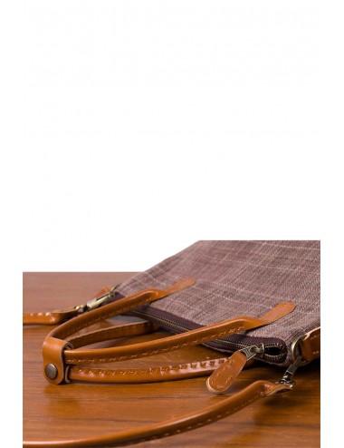 Handmade Brown Cotton Bag...