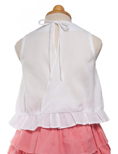 Rae cotton tied back top,...