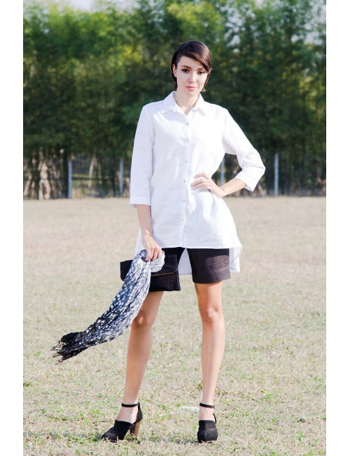 Calla White Linen Shirt