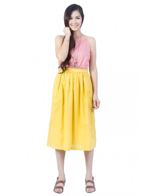 Ploy Cotton Full Skirt,...