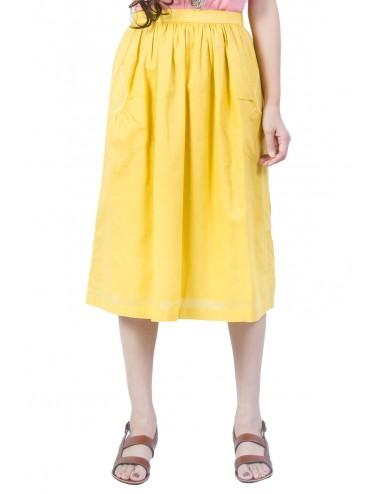Ploy Cotton Full Skirt,...