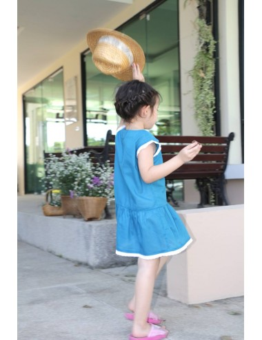 Clara cotton dress, Blue