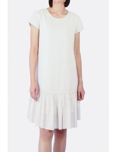 Layla Viscose-Linen Dress,...