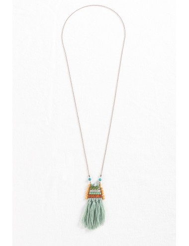 Cotton Short Green Tassel