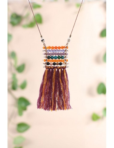 Cotton Short Purple Tassel