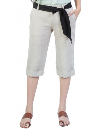 Nicky Linen Capris, Natural