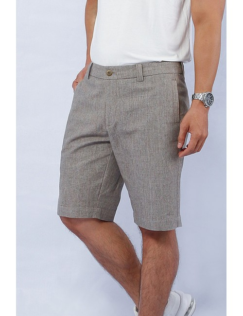 Day Off Linen Shorts, Brown