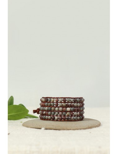 Jasper and Leather Bracelet