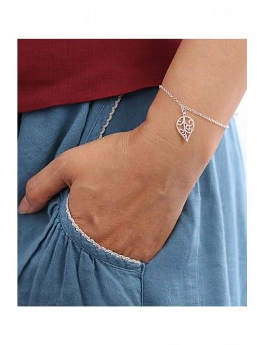 Classic Leaf Silver Bracelet