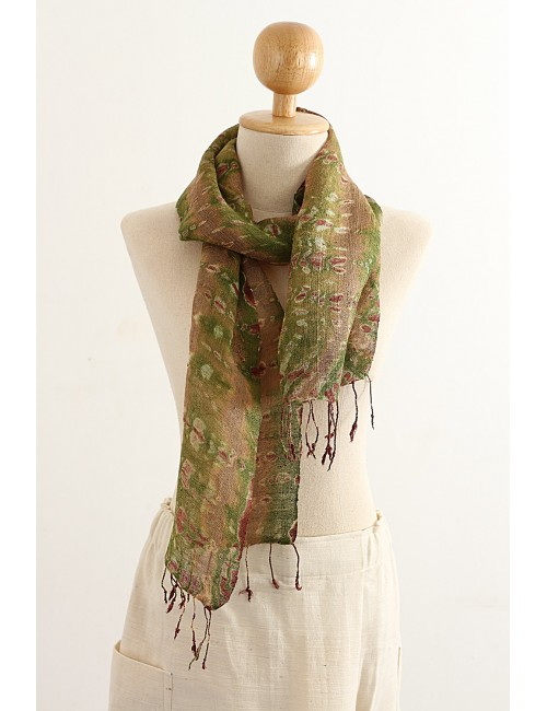 Silk Scarf Stormy Colors,...
