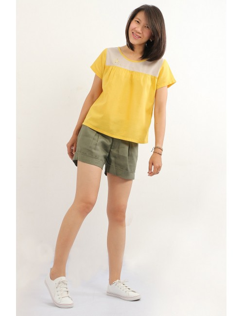 Pasha Cotton Top, Yellow