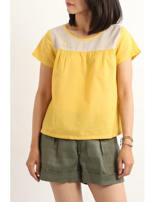 Pasha Cotton Top, Yellow