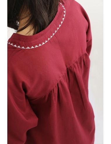 Anemone Cotton Tunic, Red,...