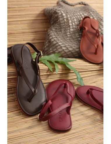 Leather Slippers, Chocolate...