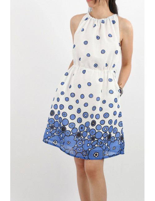 Renie Cotton Voile Dress, Blue