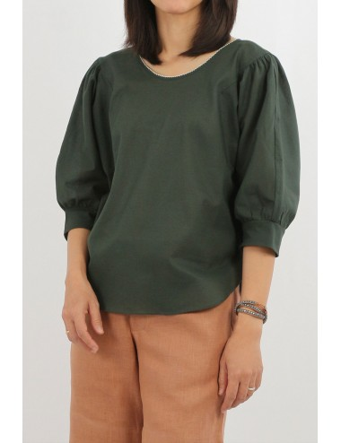 Fifa Cotton Blouse, Green,...