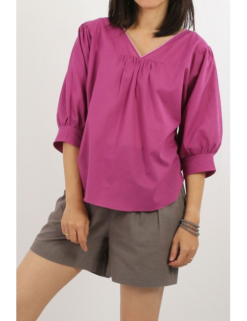 Fifa Cotton Blouse, Violet,...