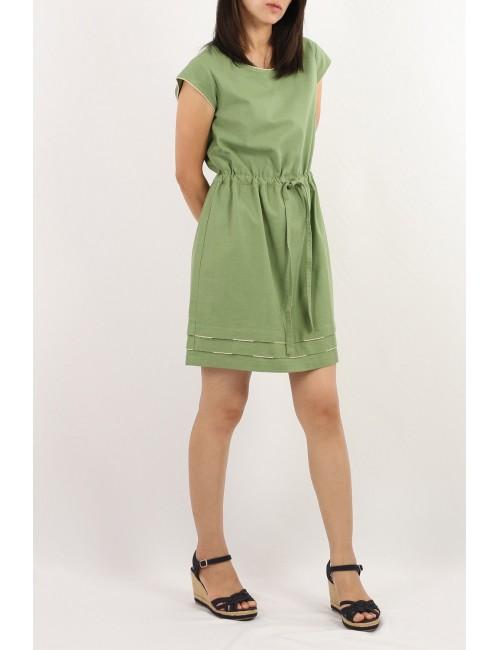 Dalat Cotton Linen Dress,...
