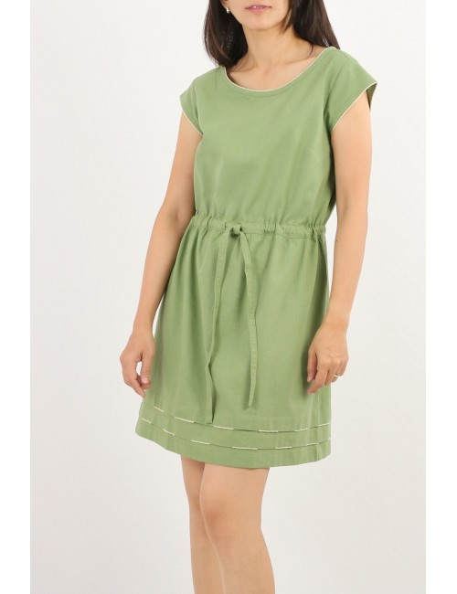 Dalat Cotton Linen Dress,...