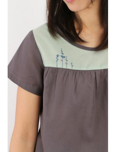 Pasha Cotton Top, Grey,...