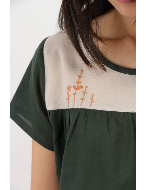 Pasha Cotton Top, Green,...