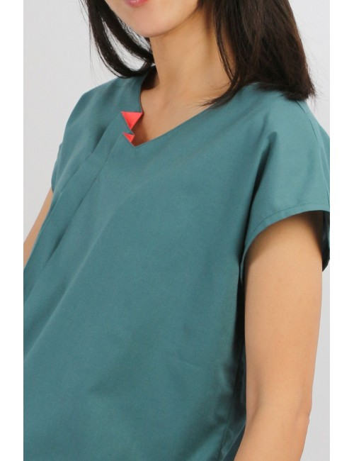 Velar Cotton Blouse, Green,...