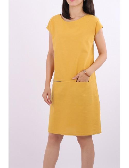 Amanda Cotton Linen Dress,...