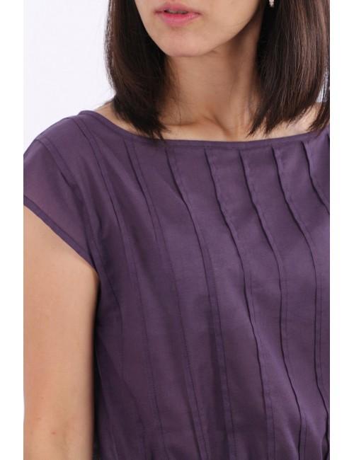 Blessing Cotton Dress, Purple