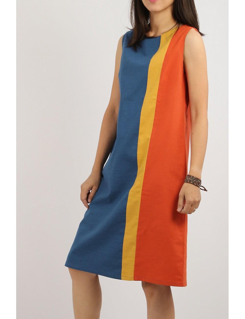 Carol Cotton Linen Dress,...