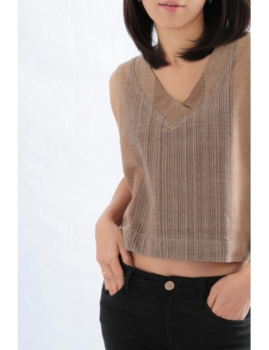 Robin V Crop Top, Brown,...