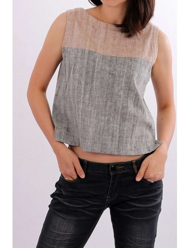 Hand Spun Cotton Crop Top,...