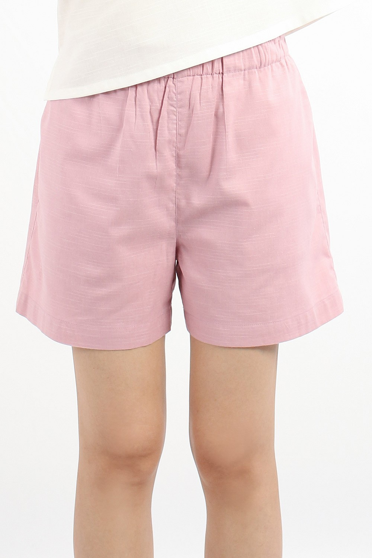 Zonya Cotton Shorts, Pink
