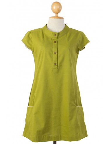 Polo Cotton Tunic, Green, Moss