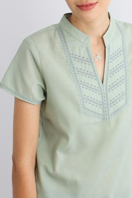 Holme Embroidered Mandarin...