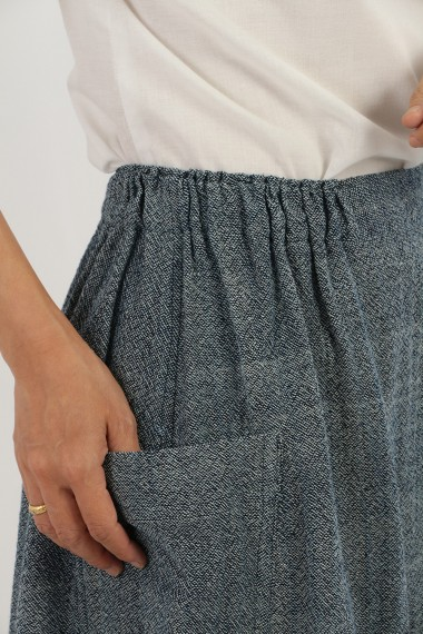 Lily Cotton Skirt, Blue,...