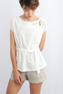Salvia Cotton Blouse, Off...