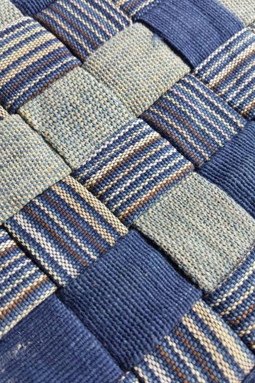 Hand Woven Pot Mat, Blue