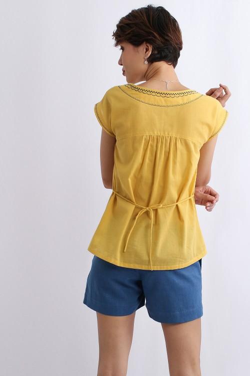 Aquarius Embroidered Cotton...