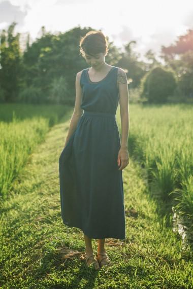 Cholena Cotton Linen Dress,...