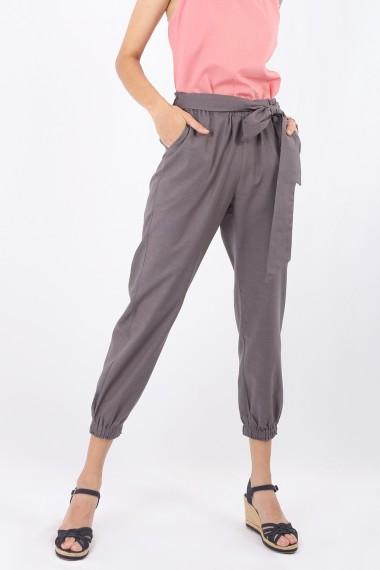 Bly Tie Ladies Pants, Grey