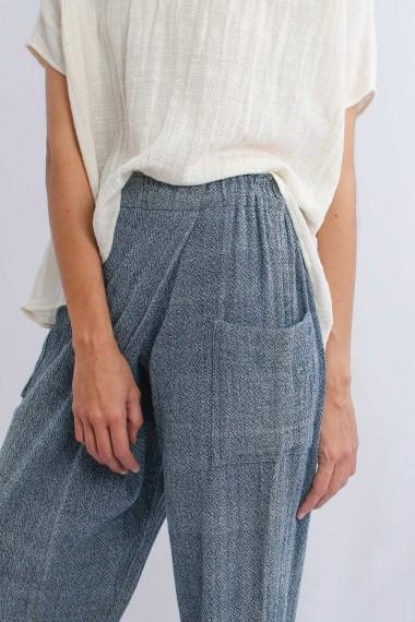 Eira Cotton Pants, Blue,...