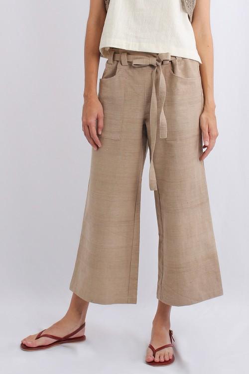 Maple Cotton Pants, Beige