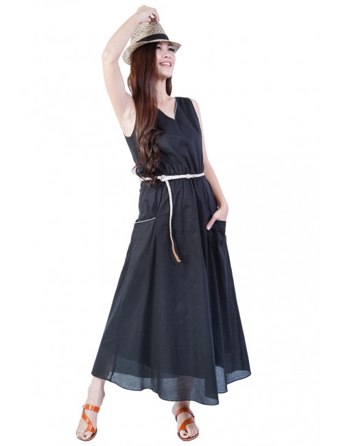 Holly Cotton Maxi, Black