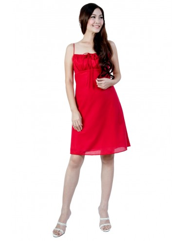 Love Me Cotton Dress, Red