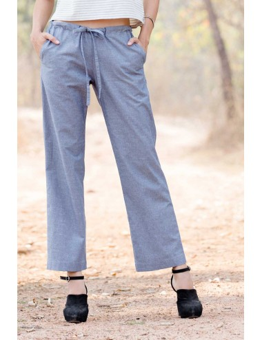 Canna Cotton Linen Pants, Blue