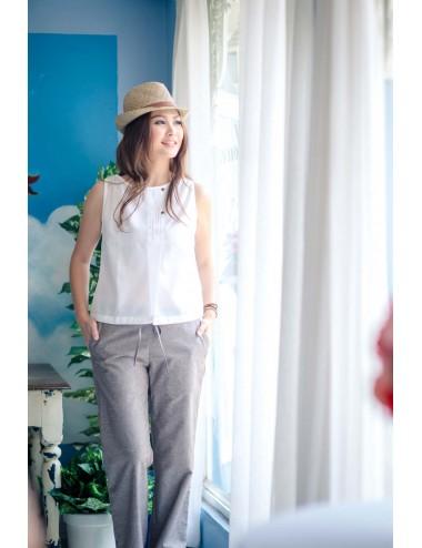 Canna Cotton Linen Pants-Brown